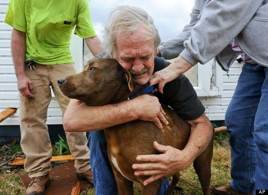 > Man reunited with dog after tornado - heart wrenching photo - Photo posted in Wild videos, news, and other media | Sign in and leave a comment below!
