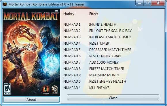 Mortal Kombat: Komplete Edition v1.0 +11 Trainer [GRIZZLY]