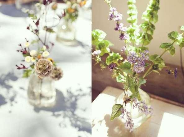 flowers, plants, greens, nature, arrangement, bouquet, simple, diy, tutorial.