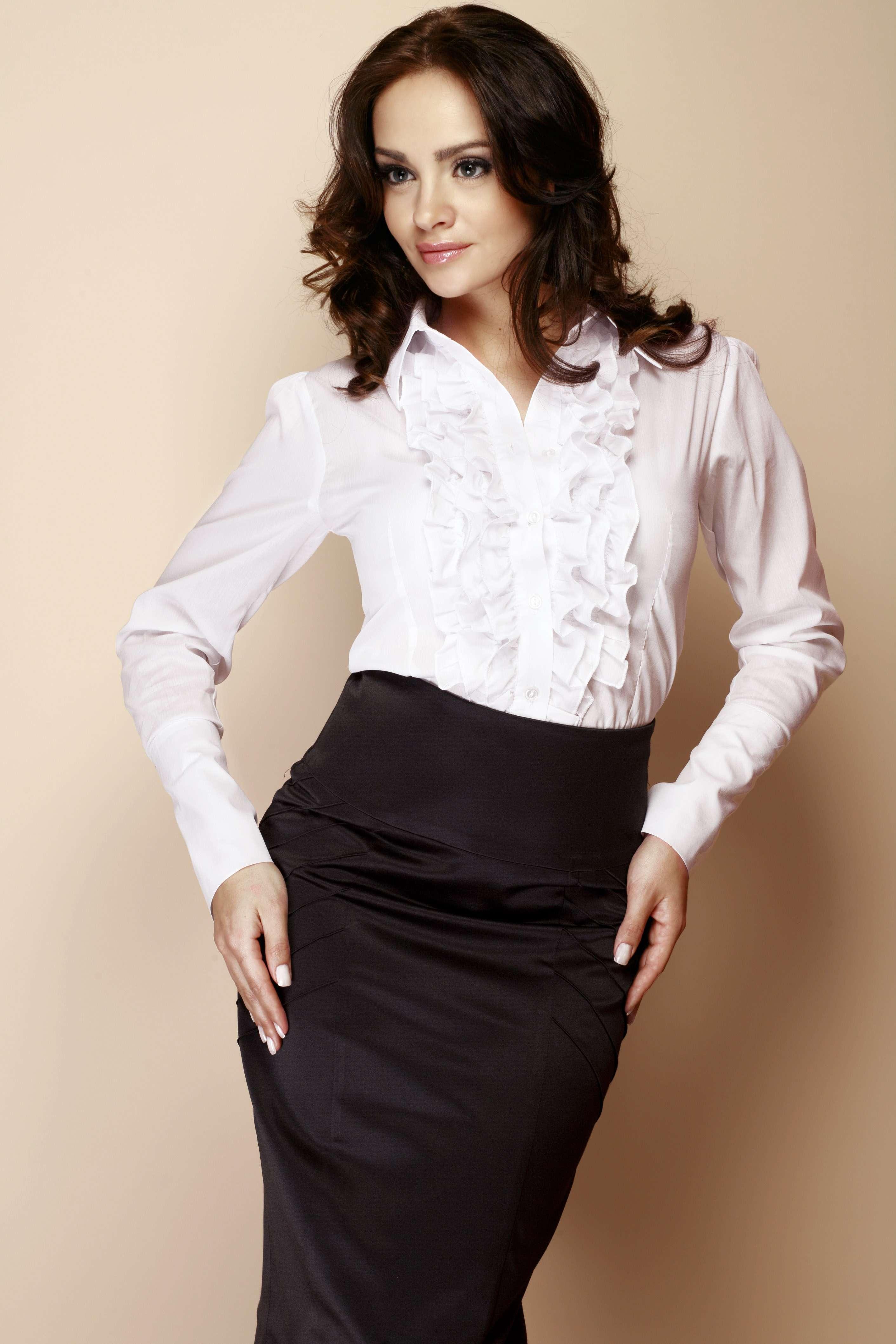 Строгая Белая Блузка Купить