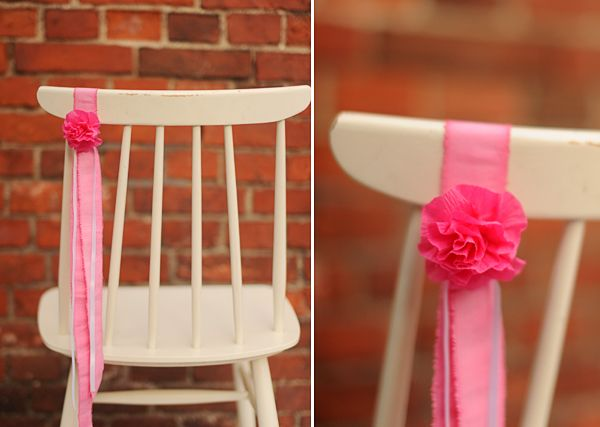 HEY LOOK EASY CHAIR DECOR WITH CREPE PAPER FLOWERS