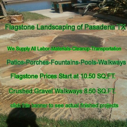 flagstone landscaping Texas
