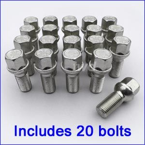 Includes 16 Wheel Bolts