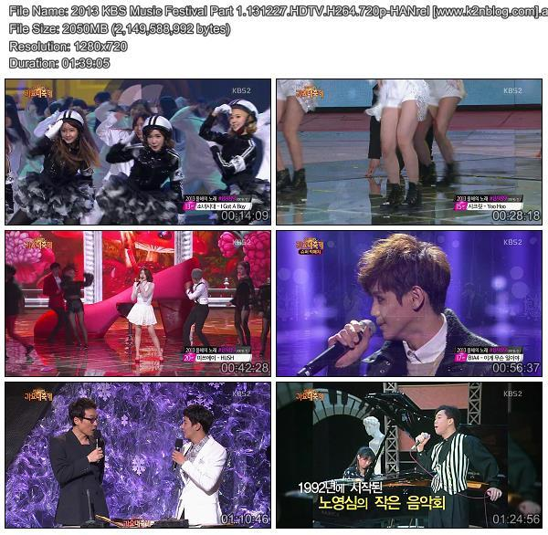 [Show] 2013 KBS Music Festival Part 131227 [HD 720p]