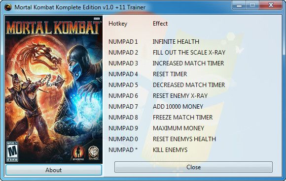 Mortal Kombat: Komplete Edition v1 0 +11 Trainer [GRIZZLY