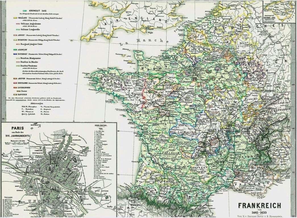 historische alte landkarte frankreich and paris in der renaissance 1874 ebay. Black Bedroom Furniture Sets. Home Design Ideas